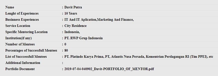 Profile Pembicara Seminar