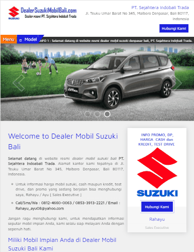 portofolio jasa pembuatan website sales mobil
