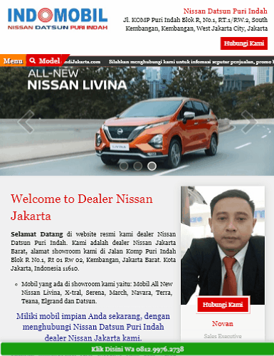 portofolio jasa website dealer mobil