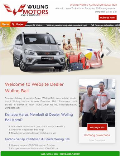 portofolio jasa website sales mobil