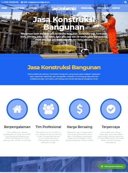 portofolio jasa web konstruksi bangunan