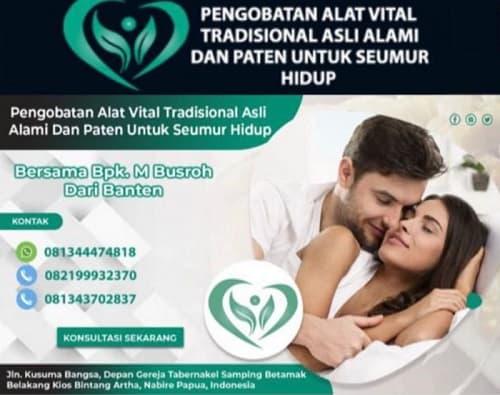 Pengobatan tradisional alat vital nabire